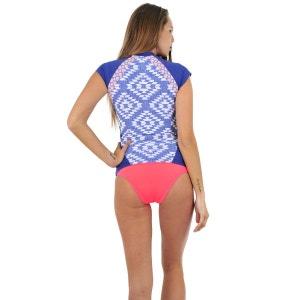 T-shirt de surf Capsleeve Del Sol Bleu RIP CURL