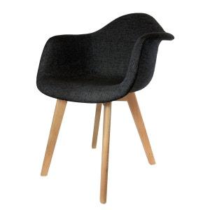 Fauteuil scandinave en tissus - H. 82 cm - Noir THE HOME DECO FACTORY