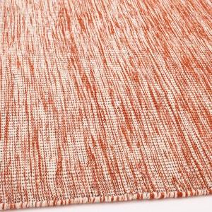 Tapis tissé à plat motif kilim en laine, Abradant AM.PM.