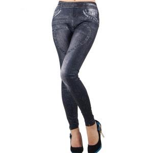 Legging imitation Jean coeur BELLE EN COLLANT