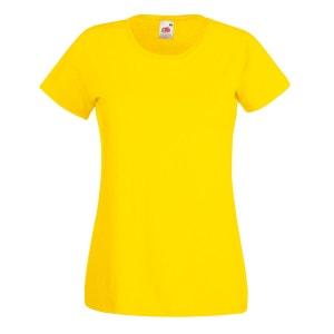 T-shirt à manches courtes  100% coton pour femme FRUIT OF THE LOOM