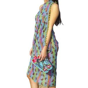 Paréo foulard turquoise DUB & DRINO