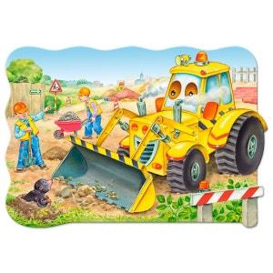 Puzzle 20 pièces maxi : Bulldozer en action CASTORLAND