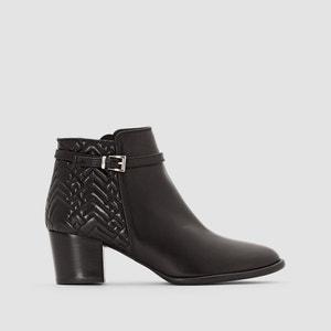Boots cuir à bride Dipa HEYRAUD