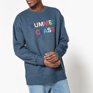 Sweatshirt, runder Ausschnitt, Aufschrift La Redoute Collections