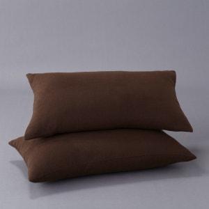 Confezione da 2 federe per cuscino effetto scamosciato La Redoute Interieurs