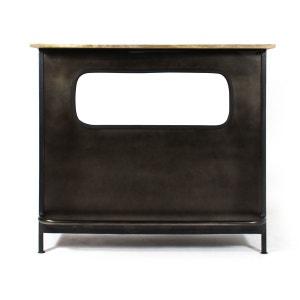 Bar Industriel gris en métal  |  S539 MADE IN MEUBLES
