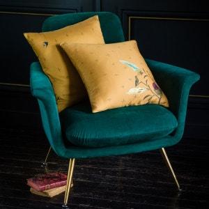 coussin jaune moutarde la redoute. Black Bedroom Furniture Sets. Home Design Ideas