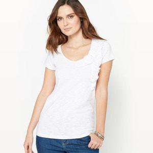 T-shirt z koronką i falbankami ANNE WEYBURN