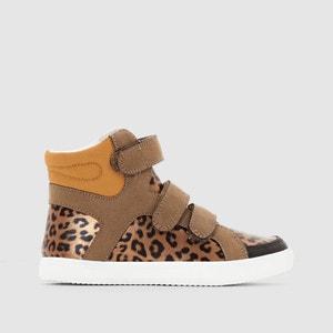 Zapatillas deportivas de caña alta, estampado estilo leopardo La Redoute Collections