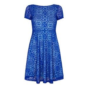 Koronkowa sukienka z krótkim rękawem YUMI