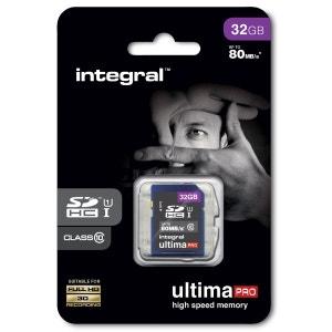 Cartes memoire  SDHC 32 GO CL 10/80 INTEGRAL