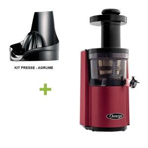 Pack Promo Omega VSJ843 Rouge + presse agrume - Extracteur De Jus Vertical OMEGA