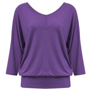 T-shirt long de yoga «Saravati» - mauve purple YOGISTAR