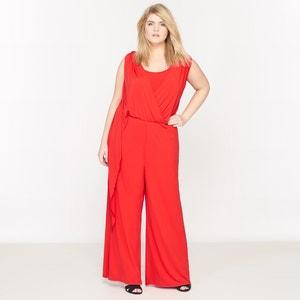 Kombinezon z długimi spodniami, bez rękawów, z lejącej tkaniny CASTALUNA