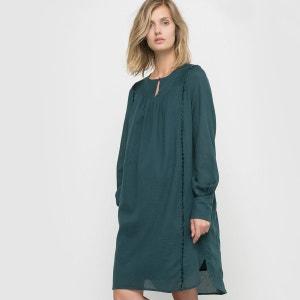 Robe plissée en coton La Redoute Collections
