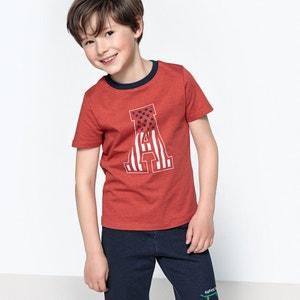 Camiseta con motivo de letra 3-12 años La Redoute Collections