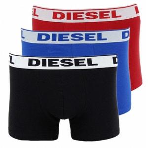 3 Boxers Diesel Umbx Shawn (Noir/Rouge/Bleu) DIESEL
