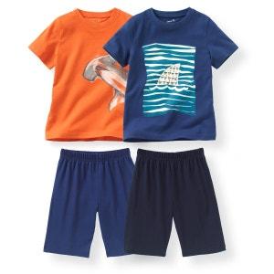 Pyjashort coton 2-12 ans (lot de 2) R Edition