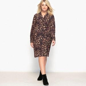 Robe chemisier imprimée léopard CASTALUNA