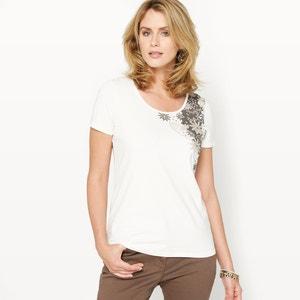 T-shirt em algodão stretch ANNE WEYBURN