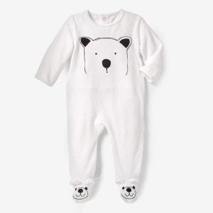 Pyjama à pieds velours-Oeko Tex La Redoute Collections