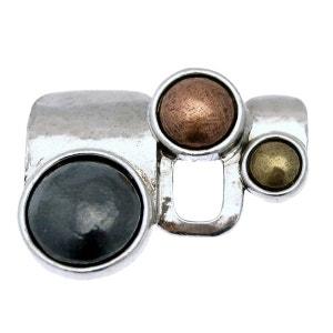 Broche en métal argenté de la collection LILI LA PIE