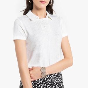 T-shirt met polokraag en korte mouwen