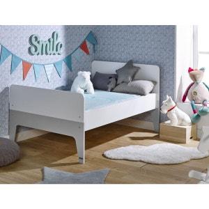 Lit enfant évolutif city blanc/gris 90x140/200 JUNIOR PROVENCE