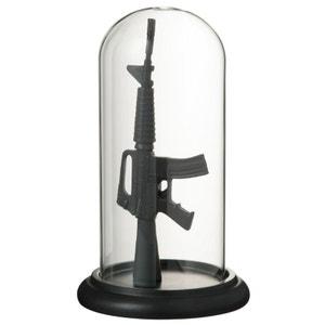Cloche en verre avec Fusil en résine JOLIPA