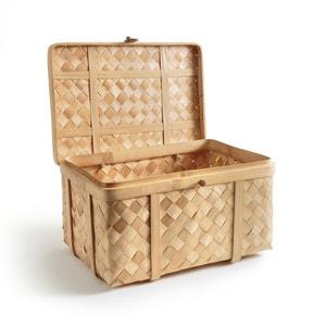 Kiste Bathilda aus geflochtenem Bambus, handwerkliche Fertigung AM.PM.