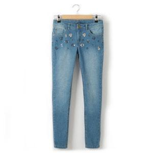 Jeans skinny com aplicações fantasia, menina, 10-16 anos R teens