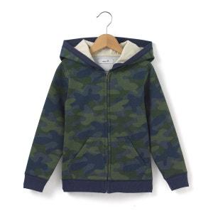 Sweat imprimé camouflage à capuche 3-12 ans abcd'R