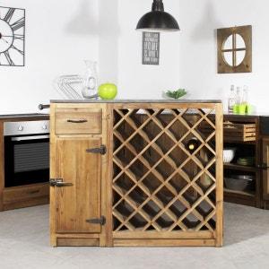 Centre de cuisine 1 tiroir, 1 porte, range bouteille - Champetre  |  OP1114 MADE IN MEUBLES