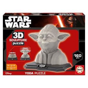 Puzzle 160 pièces : Sculpture 3D Star Wars : Yoda EDUCA