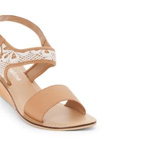 Sandales talon compensé bois CASTALUNA