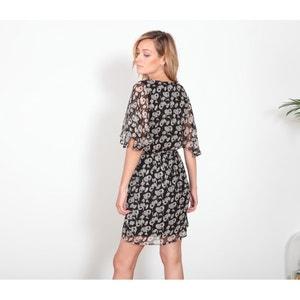 Sukienka midi, długość 3/4, krótki rękaw LE TEMPS DES CERISES