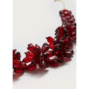 Collier perles de verre VIOLETA BY MANGO