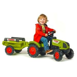 Tracteur à pédales Claas Arion 410 + Remorque FALK / FALQUET