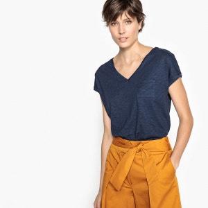 T-shirt col V, manches courtes BENETTON