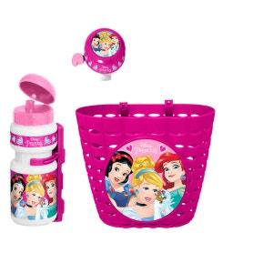 Set accessoires vélo Princesses Disney : corbeille, sonnette et gourde STAMP