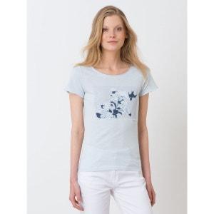 T-shirt femme pur coton motif Hokusaï