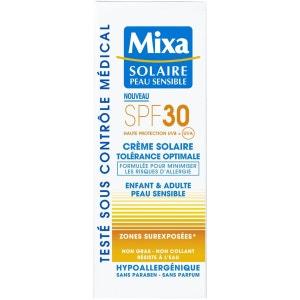 Crème solaire peaux sensibles SPF 30  Visage  75 ml MIXA