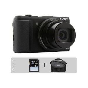 Appareil Photo Numérique SONY Pack DSC-HX60 noir + Etui + Carte SD 8Go SONY