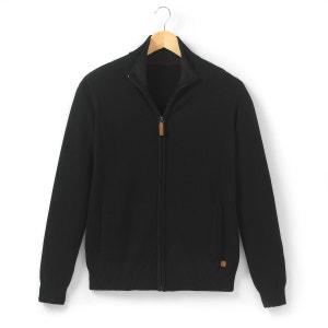 Pure Lambswool High Neck Zip-Up Cardigan R essentiel
