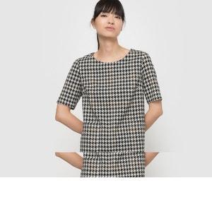 Kleid, gerade Form, Jacquard SEE U SOON