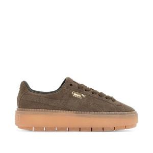 Sneakers met sleehak W Suede Platform Trace PUMA