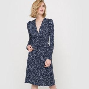 Wzorzysta sukienka ze zwiewnej tkaniny La Redoute Collections