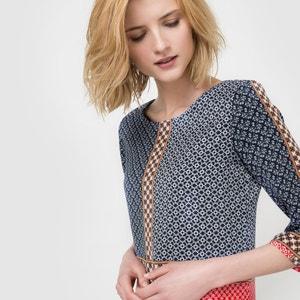 Mix Print Shift Dress La Redoute Collections