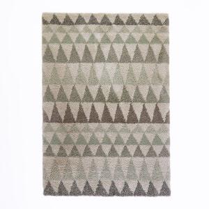 Tapijt met shaggy triangels, wol aspect, Farawi La Redoute Interieurs